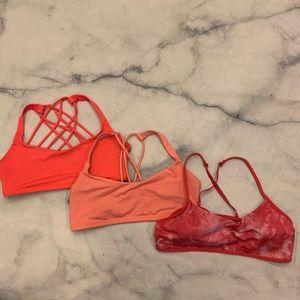 Lot of 3 Lululemon 🍋 Sports bras strappy back 10